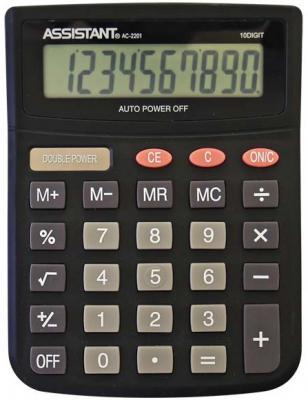 Калькулятор настольный Assistant AC-2201 10-разрядный черный