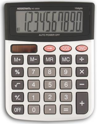 Калькулятор настольный Assistant AC-2233 10-разрядный серебристый