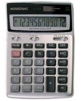 Калькулятор настольный Assistant AC-2306 12-разрядный free shiping tju aju c20 20 150 dia 20mm insertable bore drilling end mill cutting tools arbor for cpmt090204