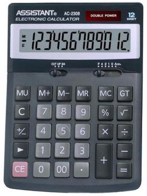 Калькулятор настольный Assistant AC-2308 12-разрядный черный right angle usb 3 0 male to female adapter blue silver