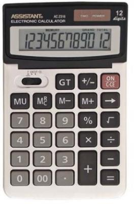Калькулятор настольный Assistant AC-2316 12-разрядный AC-2316 right angle usb 3 0 male to female adapter blue silver