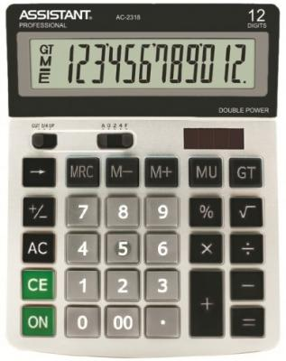 Калькулятор настольный Assistant AC-2318 12-разрядный AC-2318 калькулятор настольный assistant ac 2132 8 разрядный ac 2132