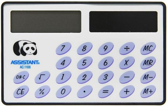 Калькулятор карманный Assistant AC-1106 8-разрядный  AC-1106 калькулятор assistant ac 1106 8 разрядный