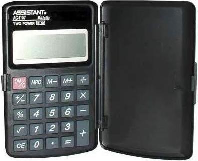 Калькулятор карманный Assistant AC-1107 8-разрядный черный