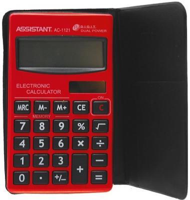 Калькулятор карманный Assistant AC-1121RD 8-разрядный AC-1121RD ac contactor lc1f115d7 lc1 f115d7 42v lc1f115e7 lc1 f115e7 48v lc1f115f7 lc1 f115f7 110v lc1f115g7 lc1 f115g7 120v