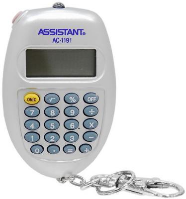 Калькулятор карманный Assistant AC-1191SL 8-разрядный  AC-1191SL калькулятор assistant ac 1191 8 разрядный цвет серебристый