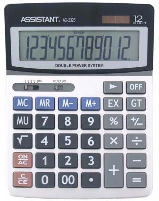 Калькулятор настольный Assistant AC-2325 12-разрядный AC-2325 ac contactor lc1f115d7 lc1 f115d7 42v lc1f115e7 lc1 f115e7 48v lc1f115f7 lc1 f115f7 110v lc1f115g7 lc1 f115g7 120v