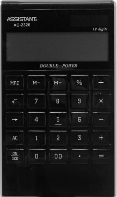 Калькулятор настольный Assistant AC-2326 12-разрядный черный