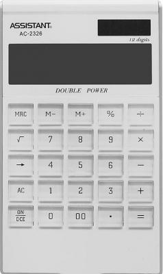 Калькулятор настольный Assistant AC-2326 12-разрядный белый