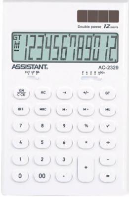 цена на Калькулятор настольный Assistant AC-2329 12-разрядный