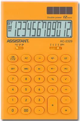 Калькулятор настольный Assistant AC-2329 12-разрядный assistant assistant ah 1053 black