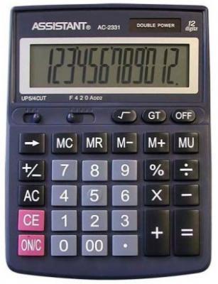 Калькулятор настольный Assistant AC-2331 12-разрядный черный