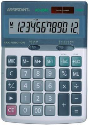 Калькулятор настольный Assistant AC-2340 12-разрядный калькулятор assistant ac 2329 12 разрядный цвет желтый