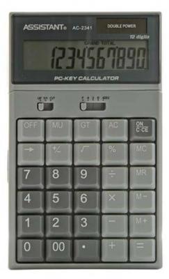 Калькулятор настольный Assistant AC-2341 12-разрядный калькулятор assistant ac 2341 настольный в коробке