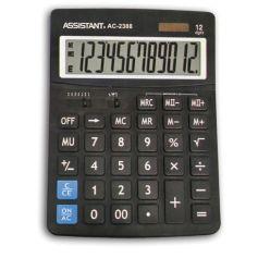 Калькулятор 12-разр., дв. питание, дв. память, черный пластик, большой дисплей, разм.206х155х35 мм AC-2388