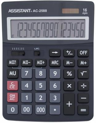Калькулятор настольный Assistant AC-2588 16-разрядный  AC-2588