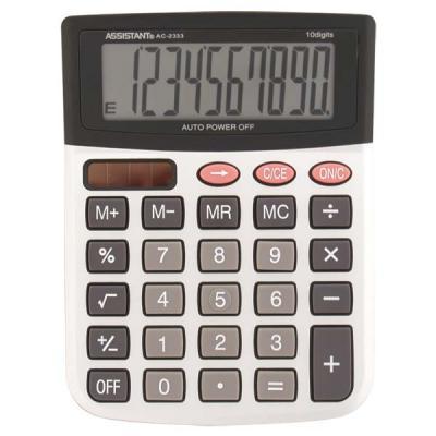 Калькулятор 12-разр., двойное питание, металл. панель, большой дисплей, вычис. %, разм.146х103х32 мм AC-2333