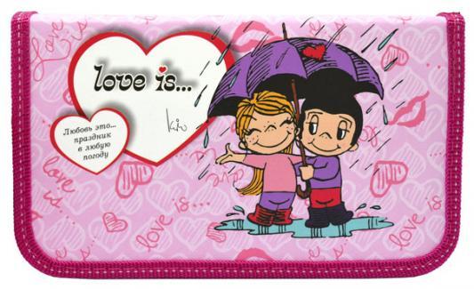 Пенал на одно отделение Action! LOVE IS в ассортименте LI-190/115-1 канцелярия action подкладка на стол love is