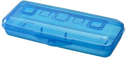 Пенал пластиковый Action! Премиум ПН18 небесно-синий ПН18