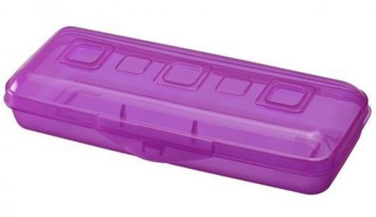 Пенал пластиковый Action! Премиум ПН19 фиолетовый