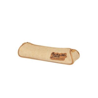 Купить Пенал-тубус на молнии JUTE, размер: 21.5 x 7.5 x 4.5 cm без наполнения, 1 отделение, джут 11035/TG, Action!, ткань, универсальные, Пеналы и папки
