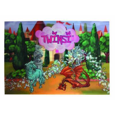 Папка-конверт на кнопке Action! Twinsi 0,2мм, А4, ассорти TPF305