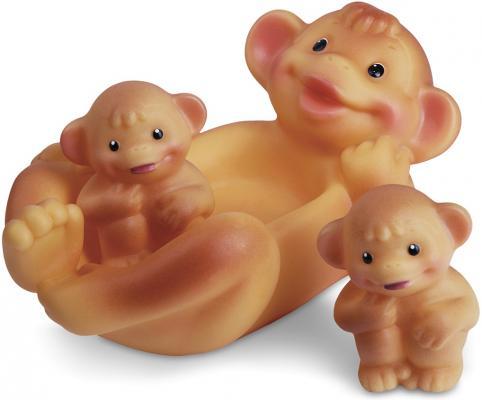 Резиновая игрушка для ванны Огонек Обезьяна с обезьянками 18.5 см С-796
