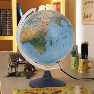 Глобус ELITE с двойной картой, диаметр 20 см, подсветка, пласт подставка и меридиан 0320EL