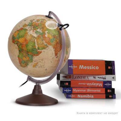 Глобус MARCO POLO с двойной картой,античный,диаметр 30 см,подсветка,лупа,пласт подставка под дерево 0330MP