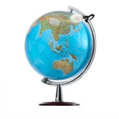 Глобус ATLANTIS КАРТА ДО 2014 с двойной картой, диаметр 40 см, подсветка, лупа, деревянная подставка 0340ATL
