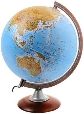 Глобус ATLANTIS с двойной картой, диаметр 25 см, новая карта, подсветка, деревянная подставка 0325ATL/new
