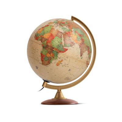 Глобус COLOMBO с двойной картой, античный,диаметр 25 см, новая карта,подсветка, деревянная подставка 0325COL/new