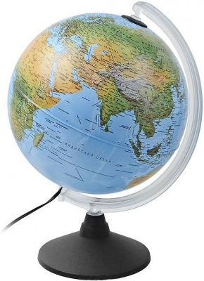 Глобус ELITE с двойной картой, диаметр 25 см, новая карта, подсветка, пласт. подставка и меридиан 0325EL/new