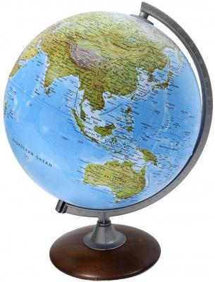 Глобус ATLANTIS с двойной картой, диаметр 30 см,новая карта, подсветка, деревянная подставка 0330ATL/new