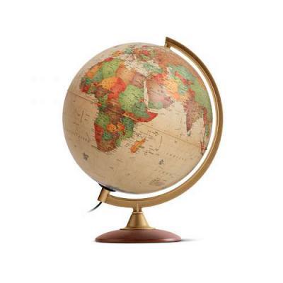 Глобус COLOMBO с двойной картой,античный, диаметр 30 см, новая карта,подсветка, деревянная подставка 0330COL/new