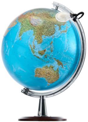 Глобус ATLANTIS КРЫМ НАШ с двойной картой, диаметр 40 см, новая карта, подсветка, лупа, деревянная подставка 0340ATL/new