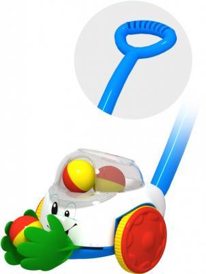 купить Каталка на палочке Огонек Каталка Ладошки пластик от 1 года с ручкой разноцветный 1381 по цене 1010 рублей