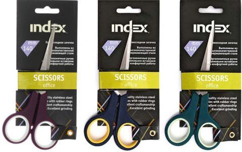 Ножницы Index ISC401 14 см в ассортименте