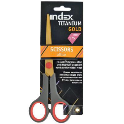 Ножницы Index TITANIUM GOLD 17.5 см ISC602