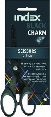 Ножницы Index Black Charm 16 см ISC705 karlsson часы slim index black