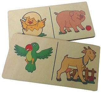 Купить Настольная игра домино Огонек Логическое домино Животные С-534, Радуга, 5х10 см, Развивающие настольные игры