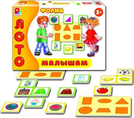 Настольная игра Радуга развивающая Лото малышам Форма С-909 лото малышам времена года радуга