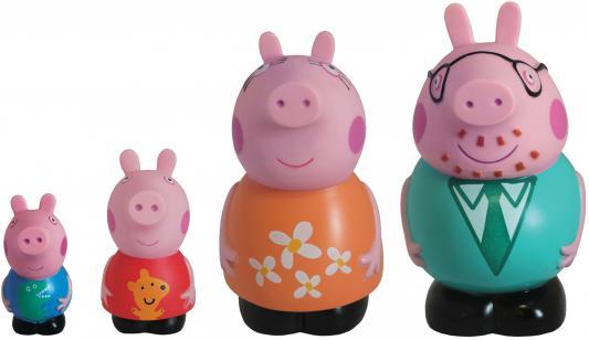 Набор игрушек для ванны Peppa Pig Семья Пеппы Peppa Pig 14 см 25068 peppa pig пазл супер макси 24a контурный магниты подставки семья кроликов