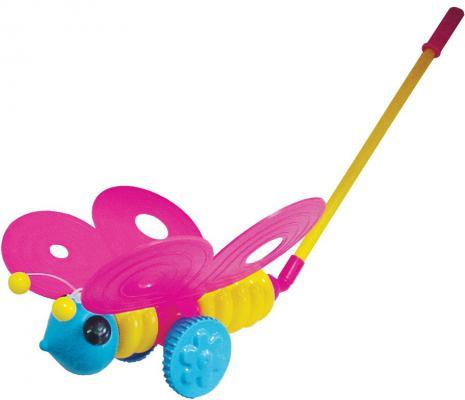 Каталка на палочке Плэйдорадо Бабочка разноцветный от 1 года пластик каталка на палочке karolina toys карусель разноцветный от 1 года пластик 40 0033