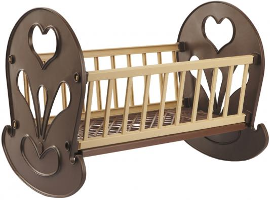 Кроватка-качалка для кукол Огонек ОГ250 С-250 кроватка качалка для кукол полесье кроватка качалка сборная для кукол 2