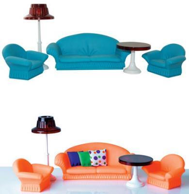 Купить Гостиная Огонек Конфетти С-1336 8 предметов в ассортименте, для девочки, Домики и аксессуары