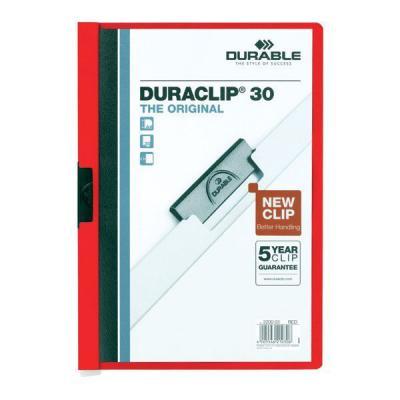 Папка DURACLIP ORIGINAL 30 с клипом, верхний лист прозрачный, красная, на 30 листов 10pcs new original stk442 150