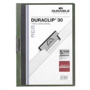 Папка DURACLIP ORIGINAL 30 с клипом, верхний лист прозрачный, зеленая, на 30 листов 10pcs new original stk442 150