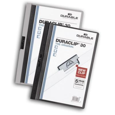 Папка DURACLIP ORIGINAL 30 с клипом, верхний лист прозрачный, синяя, на 30 листов 10pcs new original stk442 150