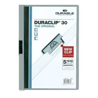 Фото - Папка DURACLIP ORIGINAL 30 с клипом, верхний лист прозрачный, серая, на 30 листов папка duraclip original 30 с клипом верхний лист прозрачный серая на 30 листов